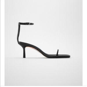 Zara Minimalist Leather Heels